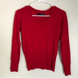 ZARA RED LONG SLEEVE SWEATER
